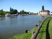Canal du Centre, Burgundy, France — Stock Photo