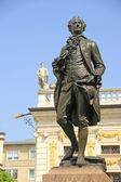 Pomník Goethe v Lipsku, Německo — Stock fotografie