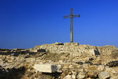 Summit Cross, Rocca di Manerba, Italy — Stock Photo
