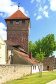 Medieval city gate in Bavaria, Germany — Stock Photo