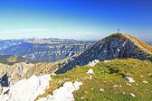 Summit Cross in the Italien Alps — Stock Photo