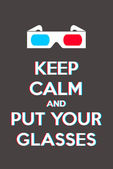 Keep calm and put your glasses — Stock Vector