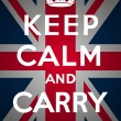 Постер, плакат: Keep calm and carry on Union Jack