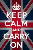 Keep calm and carry on - Union Jack — Stok Vektör