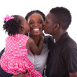Stock Photo: Happy african mother with her children's