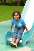 Portrait of a cute african american little boy — Stock Photo
