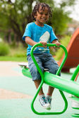 Portrét roztomilý afrických amerických malého chlapce — Stock fotografie