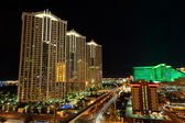 Streets of Las Vegas by night — Stock Photo