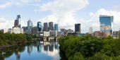 Panoramic skyline view of Philadelphia, Pennsylvania — Stock Photo