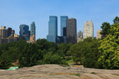 Manhattan skyline view from Central Park — Stock Photo