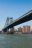 在纽约市的曼哈顿桥 — 图库照片
