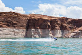 Lake Powell, in Glen Canyon in Utah and Arizona — Foto de Stock