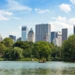 Central Park Lake in Manhattan, New York — Stock Photo