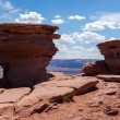 Geological formations  in Dead horse view in Utah — Stock Photo
