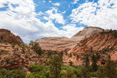 Geological formations in Zion national park in Utah — Stock Photo
