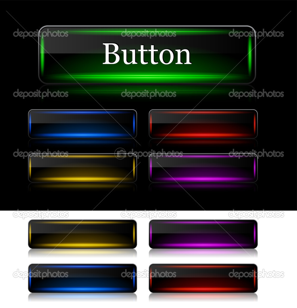 Set of buttons for web. Vector illustration.  Stock Vector #10914284