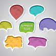 Speech bubbles set - Stok Vektör