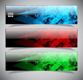 Smooth colorful abstract techno banners — Stock Vector