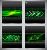 Smooth colorful abstract techno backgrounds — Stock Vector