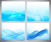 Blue and white modern futuristic backgrounds — Stock Vector