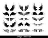 Colección alas (juego de alas) — Vector de stock
