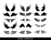 Wings collection (set of wings) — Vetor de Stock
