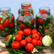 Pickling of vegetables — Stock Photo