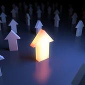 único ponteiro luminoso — Foto Stock