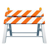 Road barrier — Stock Photo