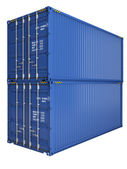 Blue containers — Stock Photo