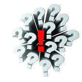 Questions and answer — Stock Photo
