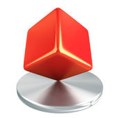 Red cube — Stock Photo