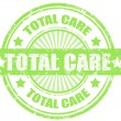 Total care stamp — Stock Vector