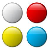 Vector blank badge template illustration — Stock Vector