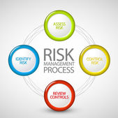 Vector Risk management process diagram — Stockvector