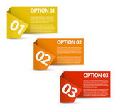 One two three - vector paper options — Stock Vector