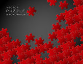 Vector background made from red puzzle pieces — Stock Vector