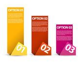 1 つ 2 つ 3 つ - ベクトル用紙オプション — ストックベクタ