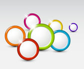 Vector abstract background with circles — Stock Vector