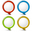 Set of vector round simple 3d bubbles - Stock Vector