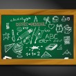 Vector school blackboard illustration - Stock Vector