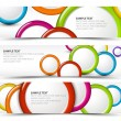 Stock Vector: Set of horizontal banners with 3d circles