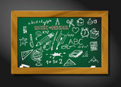 Vector school blackboard illustration — Stock Vector