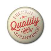 Vector retro premium quality badge — Stock Vector