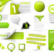 Set of green vector progress icons - Imagens vectoriais em stock