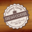 Vector de stock : Fresh coffee