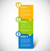 Uno dos tres - vector pasos de papel — Vector de stock