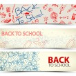 Back to School vector banners — Stock Vector