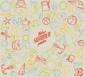 Vector summer pattern, background — Stock Vector