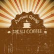 Vector grunge retro vintage background with coffee label - Stock Vector